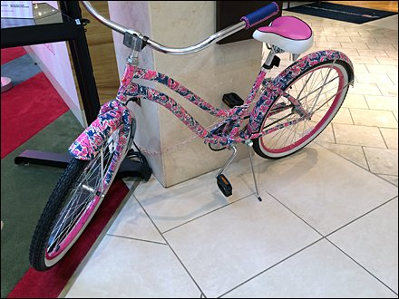 Lilly Pulitzer Bike Cancer Awareness 1
