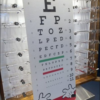 Marchon Disney Eye Test Chart