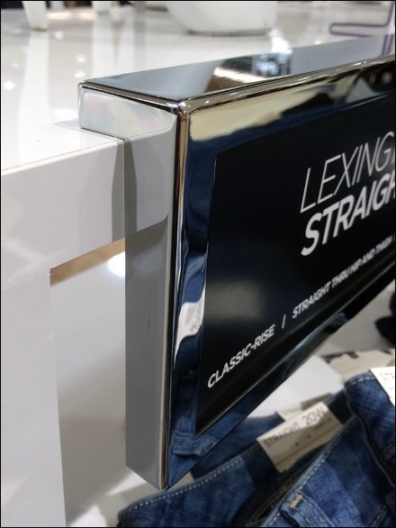 Chrome Magnetic Table-Edge Signs