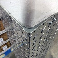 Diamond Plate Bumper Guard for Columns Main