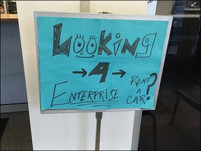 Enterprise Car Rental Wayfinding Aux