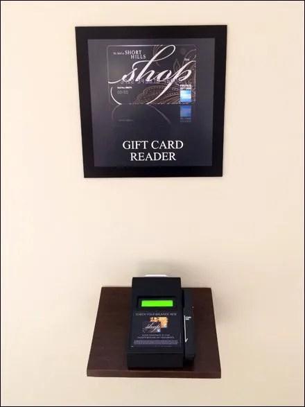 Mall-Wide Gift Card Reader Amenity at Short Hills Mall