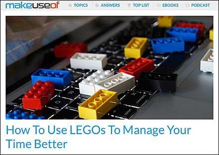 How To Manage Your Job With LEGO