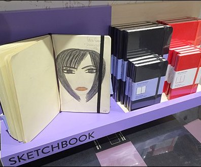 Moleskine Face Frame Sketchbook main