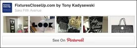 Saks Fifth Avenue Pinterest Board