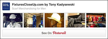 Scarf Merchandising for Men FixturesCloseUp Pinterest Board