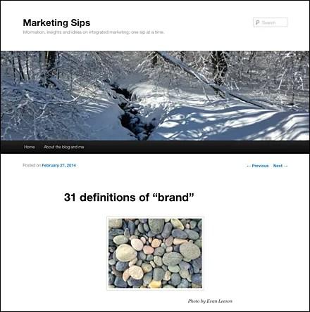 Marketing Sisp, 31 Definition of Brand