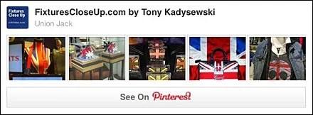 Union Jacked Display Pinterest Board
