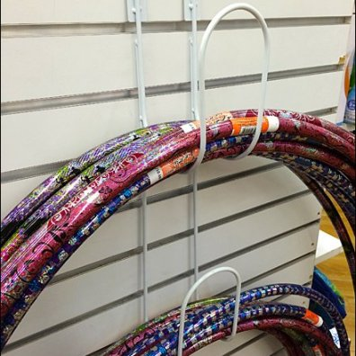 Hoola Hoop Hanger for Slatwall Main