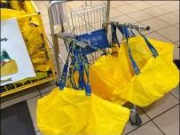 IKEA Big Yellow Bag Cart Aux