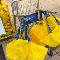IKEA Big Yellow Bag Cart Aux