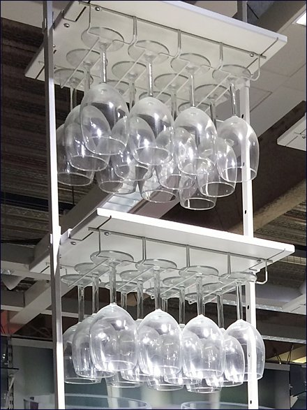 IKEA Ceiling-Hung Glassware Rack