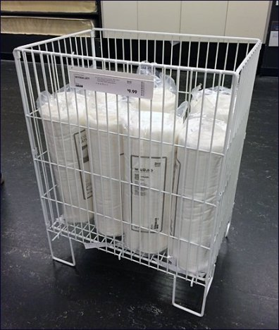 IKEA Floor Stand Mattress Protector Bin Main