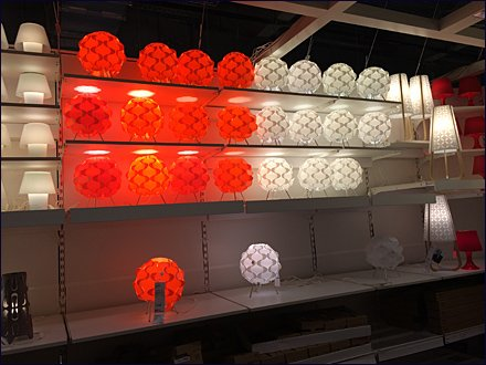IKEA Massed Gallery of Lamps 1