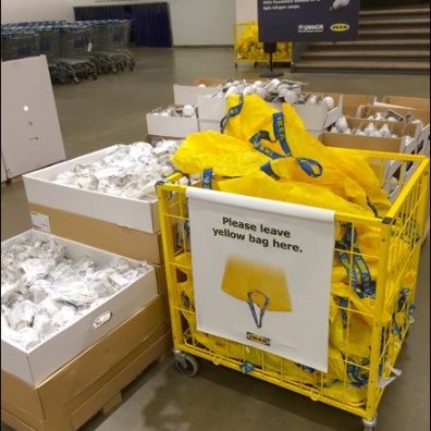 IKEA Please Leave Yellow Bag Here Bag Return Aux