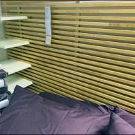 D.I.Y. Slats Create IKEA Slatwall Headboard