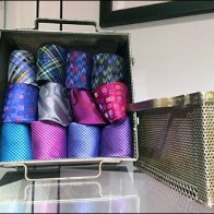 Robert Graham Perforated Tie Box Horz