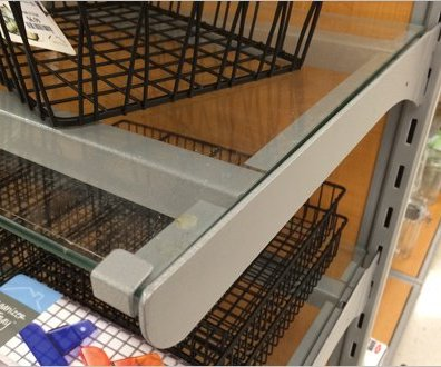 Brace Supported Glass Shelf 3