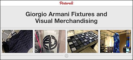 Giorgio Armani Fixtures and Visual Merchandising on Pinterest