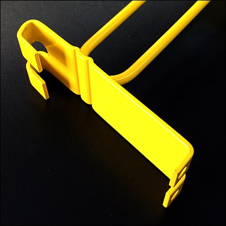 Grid Hook in Yellow Flat Metal Backplate