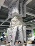 IKEA Ceiling Comforter Rack