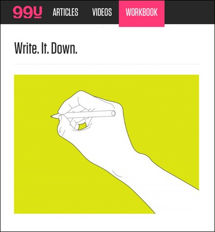 Write It Down Courtesy of 99u