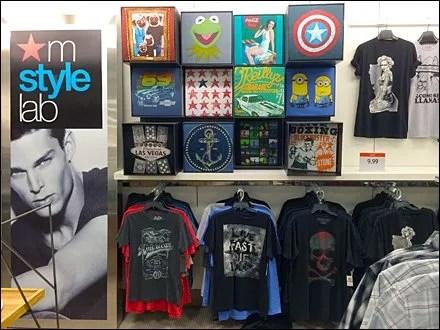 T-Shirt Cubes at Macys