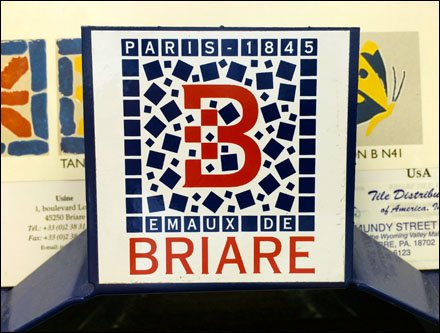 Briare Tile Logo and Tile Branding Sample Card