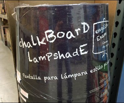 Chalkboard Lampshade Detail