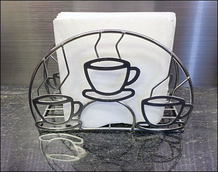 Cup and Mug Store Fixtures - Coffee Cup Napkin Holder