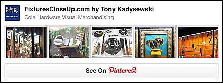 Cole Hardware Visual Merchandising Pinterest Board
