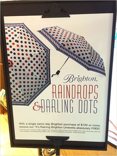 Raindrops and Darling Dots Umbrellas Main