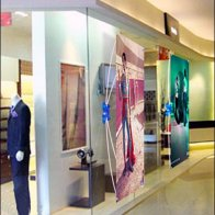 Suction-Cup Mount Fabric X-Banner