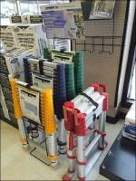 Telescoping Ladder Display Tiers