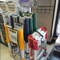 Telescoping Ladder Stepped Display Aux2