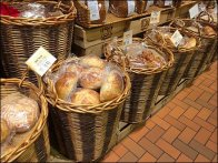 Wegman's Bakery Wall of Wicker Bread Baskets