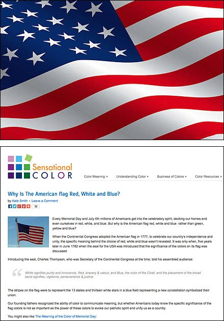 Why is the American Flag Red White and Blue