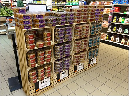 Crated Nuts Massed Display