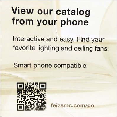 Feiss Mobile Catalog QR Code CloseUp