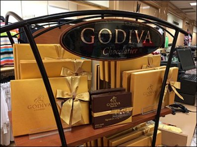 Godiva Chocolatier Freestanding Tower Curves