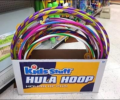 Hula Hoop Point-of-Purchase PrePack CloseUp
