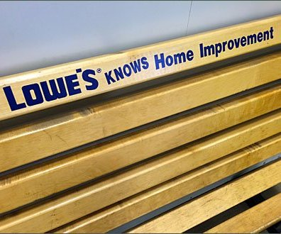 Lowes Knows Branded Bench Detail