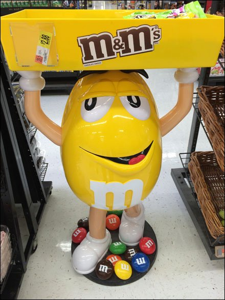M&M's Mascot's Bulk Bin Sells In-Store