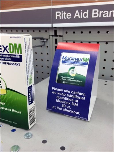 Mucinex BackStock Tent Sign 1