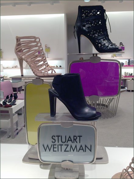 Weitzman Stained-Glass Shoe Stands