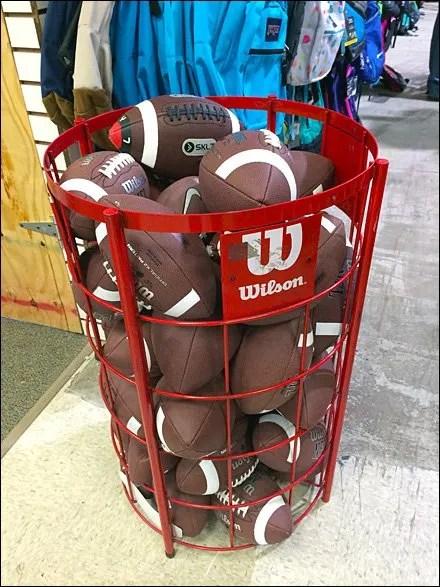 Wilson Football Branded Bulk Bin