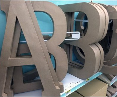 Angled Alphabetic Shelf Dividers