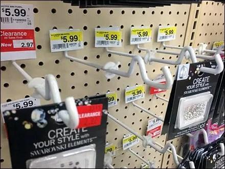Anti-Sweep Hook Retail Fixtures