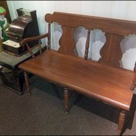 Antique Cash Register and Bench Aux