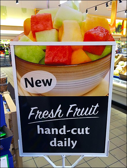 Die-Cut Fresh Fruit Sign Silhouette
